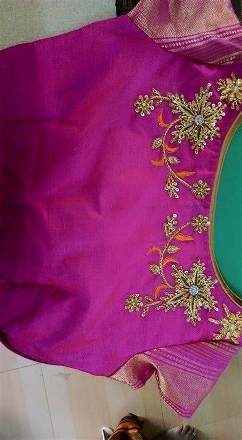 boat neck with leaf design thread work blouses images labzada blouse