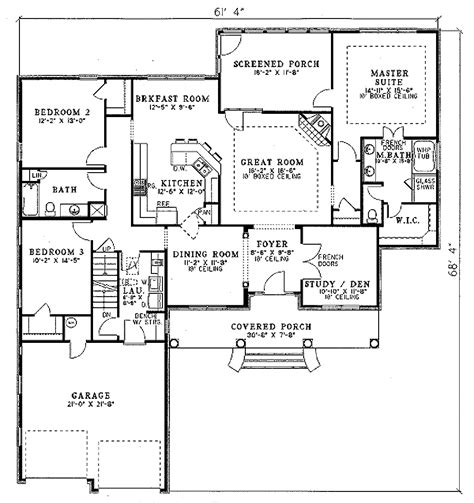 2100 square foot house plans traditional style house plan 3 beds 2 baths 2100 sq ft