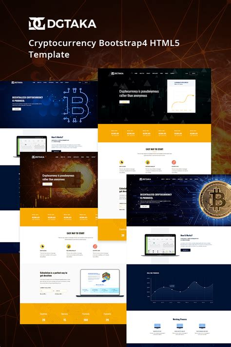 Dgtaka Cryptocurrency Website Template 69202 Cryptocurrency Html Template Free
