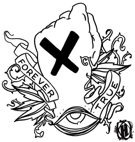 straight edge tattoo designs forever true inked by xharekx33 on deviantart