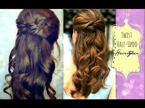 ★cute hairstyles hair tutorial with twist crossed curly
