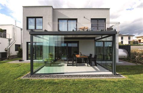 terrassendach planen vordach setzen sie architektonische akzente