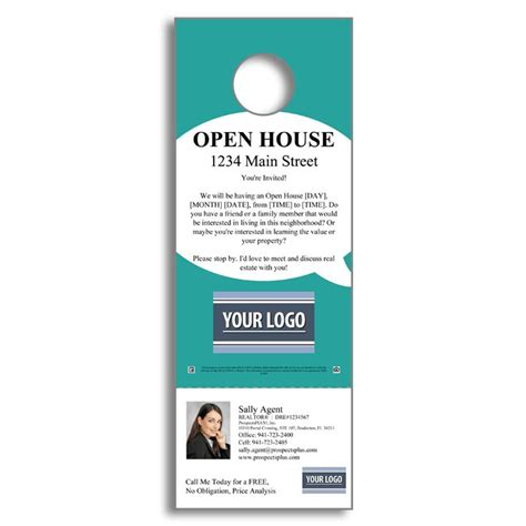 23 Best Images About Door Hangers On Pinterest Open House Door Hanger Template