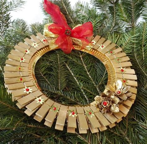 Handmade Tree Decorations Ideas - ornaments with clothespins 28 upcycled ideas