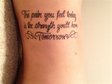 tattoo pain on your side strength tattoo quotes on side with wings the pain you