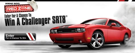 Dodge Challenger Sweepstakes - dodge boys red zone dodge challenger srt8 sweepstakes