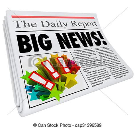 Time To Announce The Big News by Stock Illustration Of Big News Announcement Headline