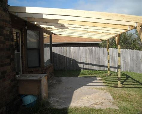 build  patio cover   corrugated metal roof