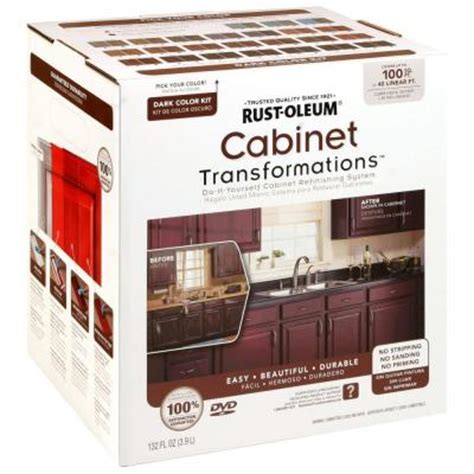 Kitchen Cabinet Kits Home Depot Rust Oleum Transformations Color Cabinet Kit 9 258240 The Home Depot