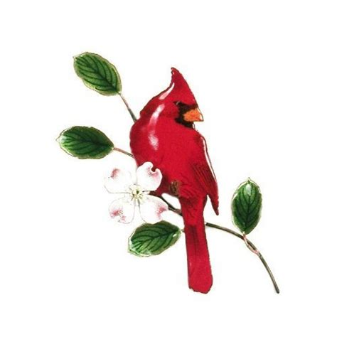 bovano enamel wall home decor cardinal bird new