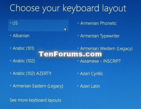 keyboard layout not changing windows 10 boot to advanced startup options in windows 10 windows