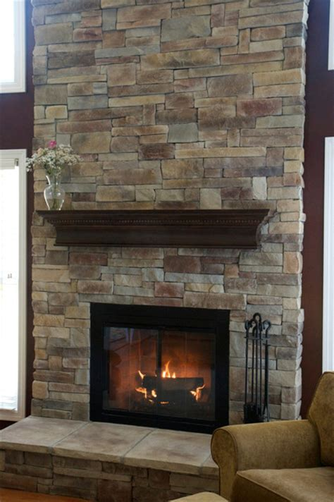 rock fireplaces stone fireplaces before after traditional family