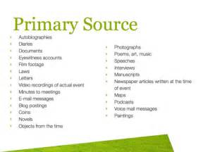 Primary Source Essay Exle by Primary Vs Secondary Sources Leestown Middle School Media Center