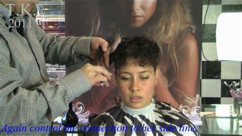 Curly black hair girl is beautyful! Leila's short haircut