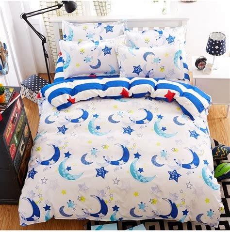 bed sheets for kids new fashion star moon queen full twin size bed linen set
