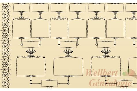 blank family tree template 6 generations printable empty