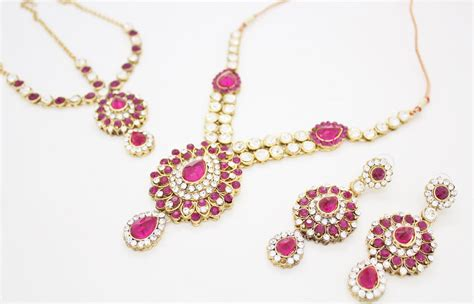 Set Pink indian jewelry sets pink www pixshark images
