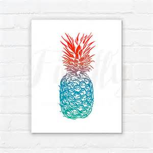 pineapple spicy nursery wall decor bedroom