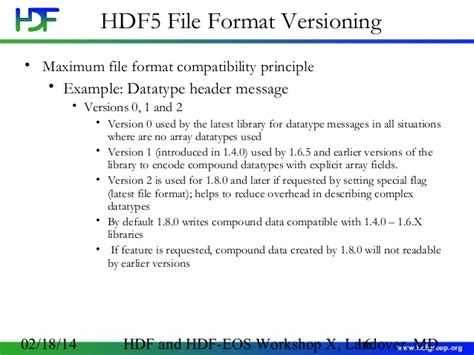 file format hdf5 hdf5 backward and forward compatibility issues