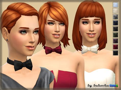 sims 3 custom content haie bow the sims resource necklace bow tie by bukovka sims 4