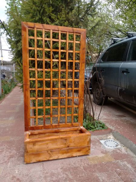 flower box  trellis myoutdoorplans