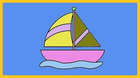 boat drawing with colour coloring for kids coloring tutorial how to color a boat