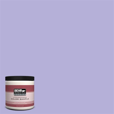 behr premium plus ultra 8 oz 630b 4 freesia purple interior exterior paint sle 630b 4u