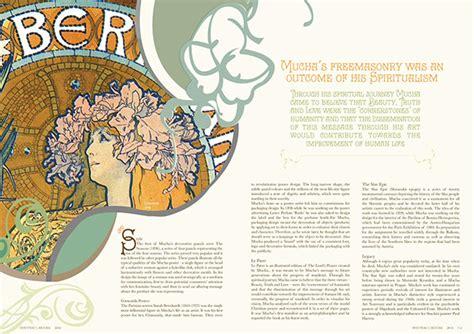 magazine layout artist philippines magazine layout alfons mucha on behance