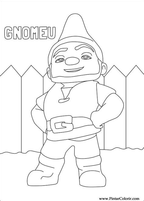 Gnomeo And Juliet Coloring Pages Drawings To Paint Colour Gnomeo Juliet Print Design 002 by Gnomeo And Juliet Coloring Pages