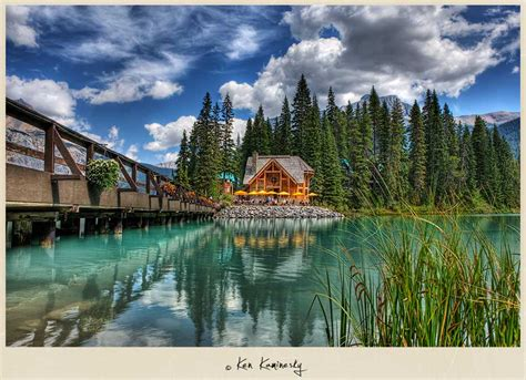blue boat house car park the true colors of emerald lake yoho national park