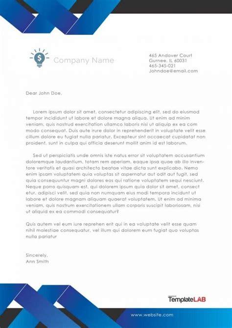 company letterhead template  templatelab exclusive  letterhead templates letterhead