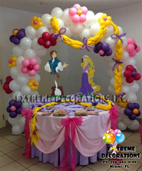 Tangled Decorations by Decorations Miami Balloon Sculptures Tangled