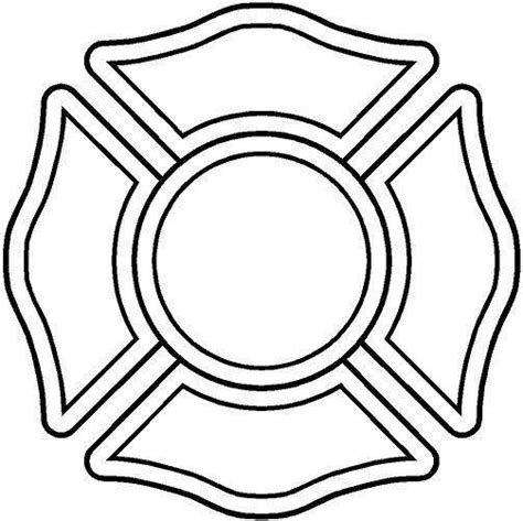 firefighter maltese cross stencil google search
