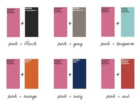pink color combinations design intuition by katie hatch design trend