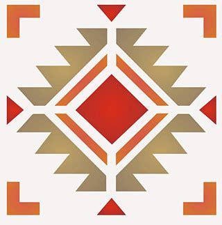 navajo four corners stencil henny donovan motif