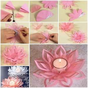 Paper Lotus Flower Template Creative Diy Paper Lotus Candlestick Project Included
