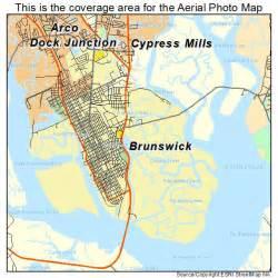 map of brunswick aerial photography map of brunswick ga