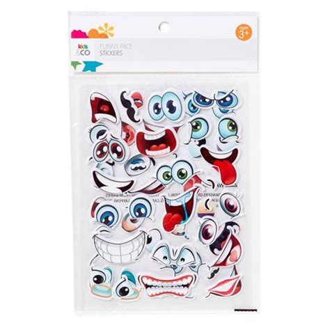 printable sticker paper kmart funny face stickers kmart
