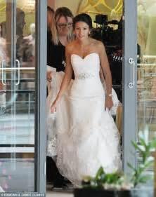 film sedih selain wedding dress michelle keegan slips back into a wedding gown to film our