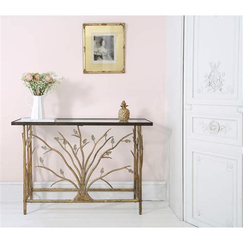 branching out gold console table bedroom company