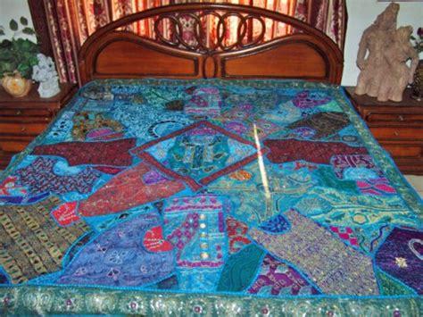 beaded bedspreads wall hanging bedspreads coverlets vintage sari bedding