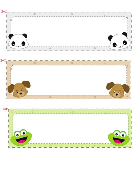 stuffed animal name card template name cards for 1 free printable desks