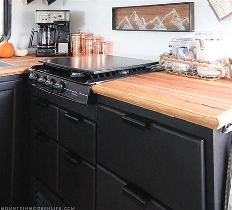 Motorhome Cupboards - painted rv kitchen cabinets mountainmodernlife