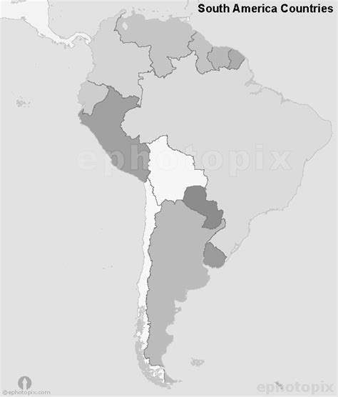 america map black south america countries map black and white countries