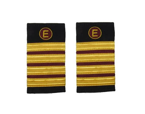 X Maroon 1 epaulette aircraft engineers 4 x 1 2 gold maroon with e on