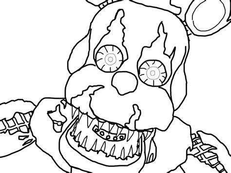 Fnaf 4 Coloring Pages by Fnaf 4 Coloring Pages Nightmare Coloring Page
