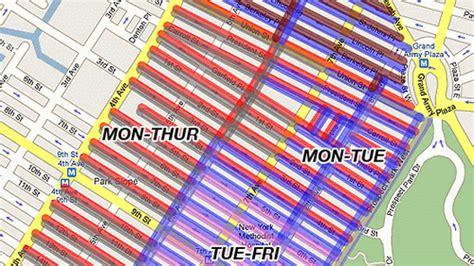 alternate side parking map alternate side parking map map2
