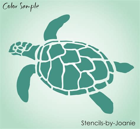 Shop For Home Decorative Items by Turtle Stencil Ocean Sealife Sand Beach Animal Tortoise