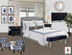 interior design online navy white and gray transitional master bedroom room by