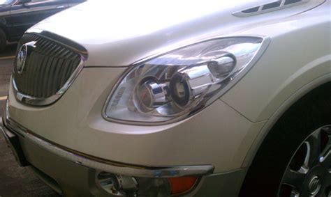 08 2012 buick enclave chrome head light bezels